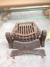 Fireplace set open fire steel complete