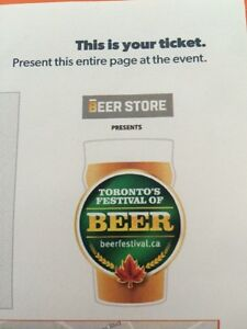 3 BEER FEST TIX FOR TODAY