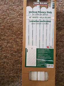 White privacy slats for chain link fence 48""
