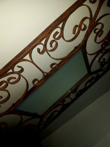 Lovely large wrought iron mirror
