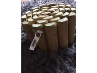 Wooden log roll for garden