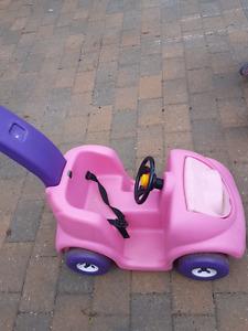 Pink push car