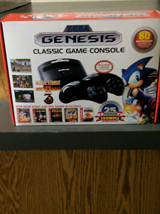 Sega Genesis classic console with 80 games new.