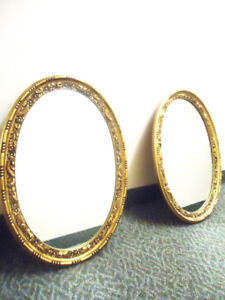 4 Different Oval Shaped Designer Gold Wall Mirrors