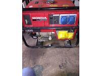 Honda generator 4,5 kva made in japan, original.