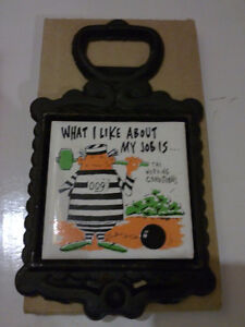 Vintage tile graphics quote coaster bottle opener Brand new London Ontario image 3