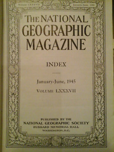 Historic National Geographic Magazine