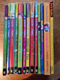 Children's books of Horrid Henry and Jeremy Strong