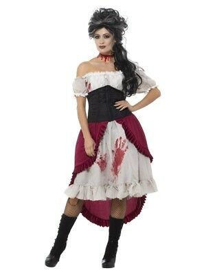 Victorian Slasher Victim Fancy Dress Large 16-18 Halloween Horror Film - Horror Movie Victim Halloween Costume