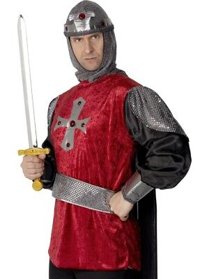Knights Sword Medieval Soilder Adult Mens Smiffys Fancy Dress Costume - Knight Costume Accessories