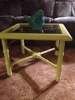 Cute Country Pear Green Table. $45
