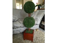 Tall Topiary ball artificial tree plant patio conservatory