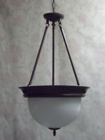 EXTRA-LARGE PENDANT & FLUSHMOUNT 2pc SET – 8 BULBS!