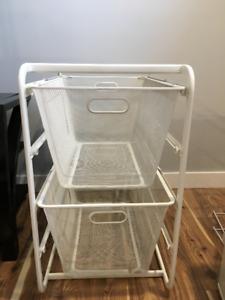 Ikea Metal Storage Rack with two Baskets