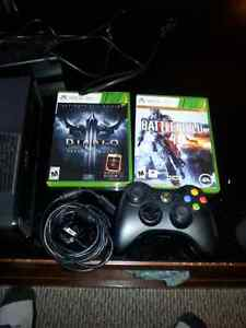 Xbox 360 Console, Controller Plus 2 games.  Kitchener / Waterloo Kitchener Area image 3