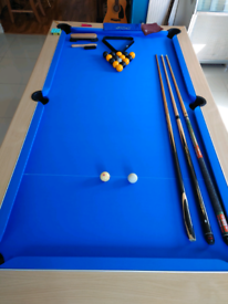 7 foot pool table.