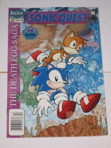 Archie Comics Sonic Quest#'s 1,2 &3 Set! HTF!! comic book