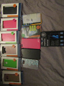 cell phone protectors x9 and tempered glass x3
