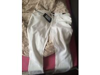 Womens brand new white Armani jeans
