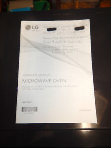 LG Microwave Counter Top Oven