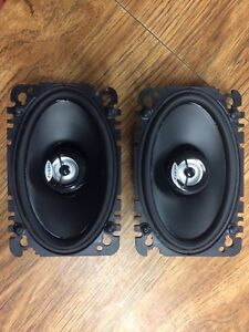 Two 4x6 dash speakers