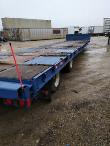 1990 ADVANCED TOWERS EXT. DROP DECK TRAILER