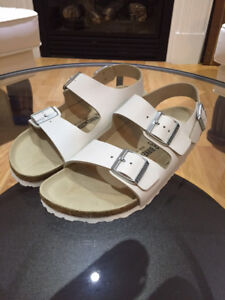 Men's Birkenstock Sandals - White - Brand New - Size 9/42