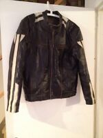 Vintage look High Quality Motorcycle Leather Jacket. Sz 40.