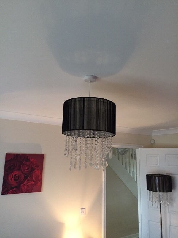 Next Black And Jewel Floor Lamp Ceiling Light Shade