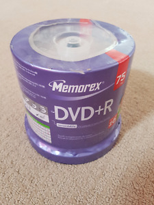 Brand new 75 blank Memorex DVD+R Disks for sale