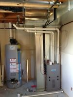 Furnace and hot water installation