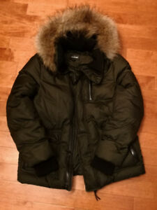 AUTH Mackage Down Winter Parka Jacket w/ Fur Men Sz 44 L / XL