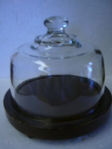 HEAVY GLASS DOMED CHEESE SERVER/SAVER/HOLDER