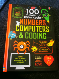 Usborne book - 100 things to know about numbers, computer and coding