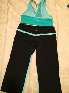 Lulu lemon sports bra and Capri pants Size Small