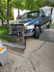 Snow Plow 2002 Dodge Ram 1500