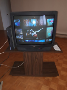"""27"""" old JVC TV with stand"""
