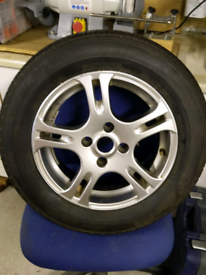 Caravan alloy wheel