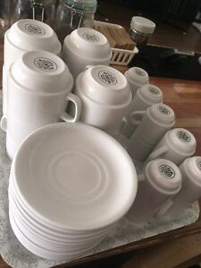 Coffee cups, espresso cups and saucers