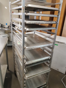 Commercial food service rolling rack and sheet trays (WEFC)