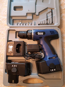 18v drill with accessories and case