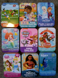 9 brand new mini tins with puzzles $9 takes all