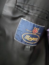 Magee 100%wool dinner jacket and purple Joliffe waistcoat