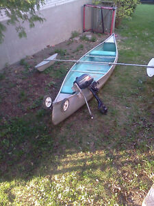 Aluminium canoe 15.5 foot. (Very heavy duty)