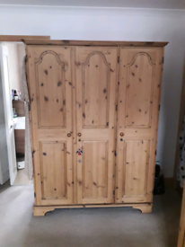 Ducal Antique Pine Wardrobe