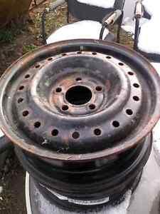 """15"""" steel winter wheels (pm for info) Chrysler style"""
