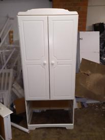 2 door White wardrobe only £50. CLOSING DOWN SALE. Furniture Superstor
