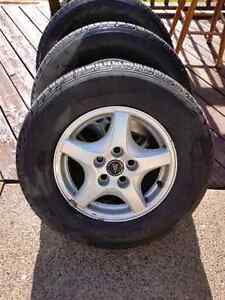 215/70/15 All Seasons on Pontiac Alloys