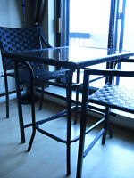 BALCONY TABLE AND CHAIRS