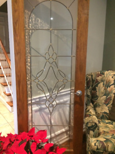 French Door Bevelled Glass